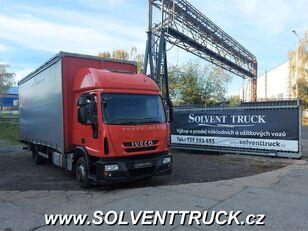 camion bâché IVECO Eurocargo 120E25, Euro 5,shrnovačka + čelo, manuál