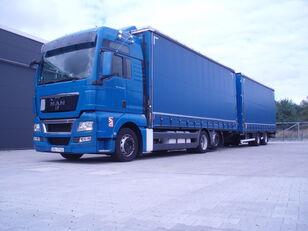 camion bâché MAN TGX 26.440 + remorque bâchée