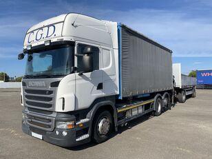 camion bâché SCANIA R440 EU5 6x2 PALFINGER BDF RETARDER