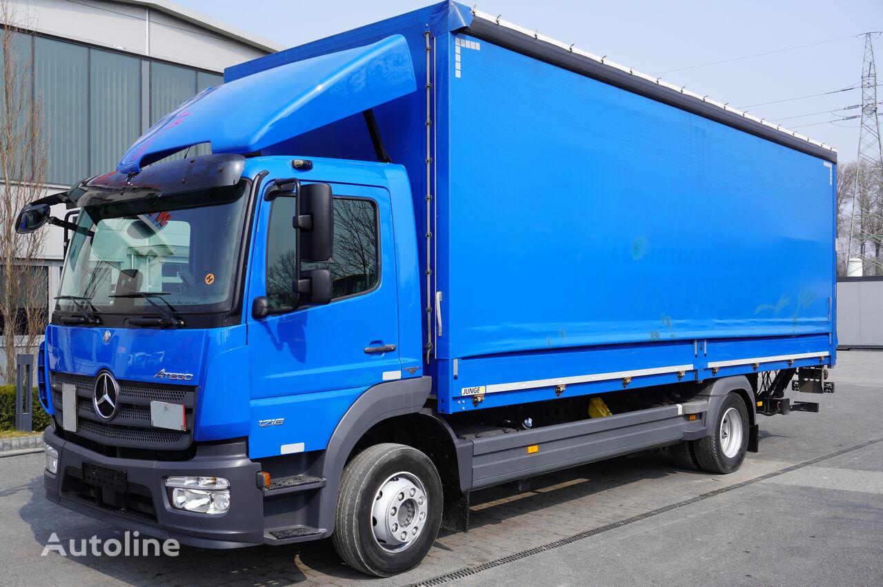 camion bâché MERCEDES-BENZ Atego 1218, E6, 100,000 km, curtain / curtain 18 EPAL, lift