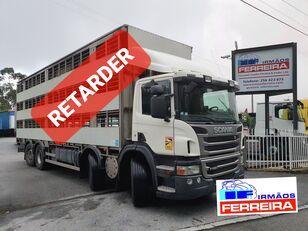 camion bétaillère SCANIA P 420cv 8x2 trans. De gado 2012 retarder