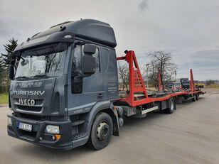 camion porte-voitures IVECO Eurocargo 140E28 + remorque porte-voitures