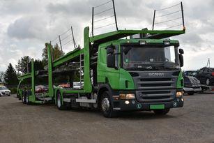 camion porte-voitures SCANIA P 380 + remorque porte-voitures