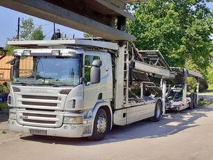 camion porte-voitures SCANIA P420 + remorque porte-voitures